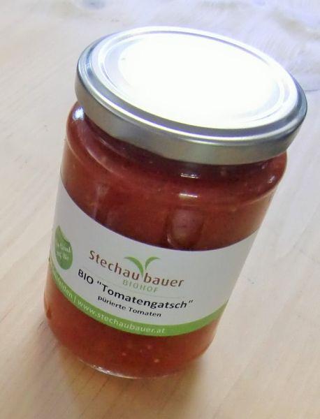 Tomatengatsch (pürierte Tomaten)