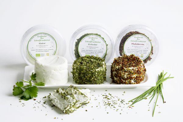 Bio Schaffrischkäse mediterrane Kräuter