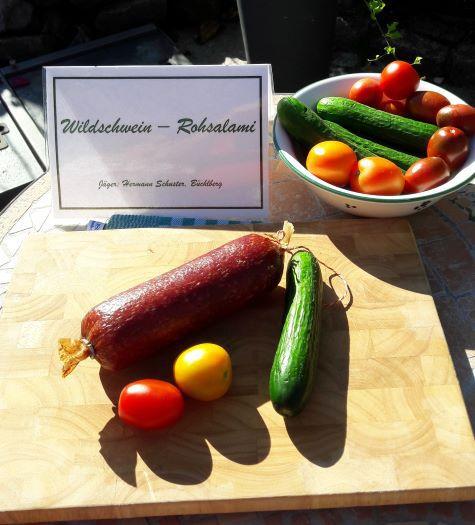 Wildschwein - Rohsalami 1Stück