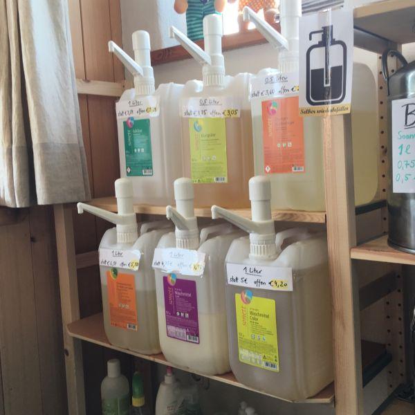 Waschmittel Color Mint & Lemon zum selber zapfen (1l-Flasche mitnehmen)