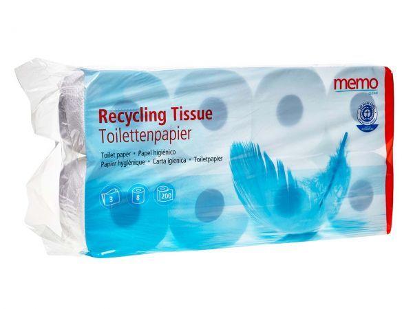 Toilettenpapier, 3-lagig, Recycling