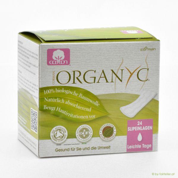 Organyc Slipeinlagen/leichte Tage to go (rosa)
