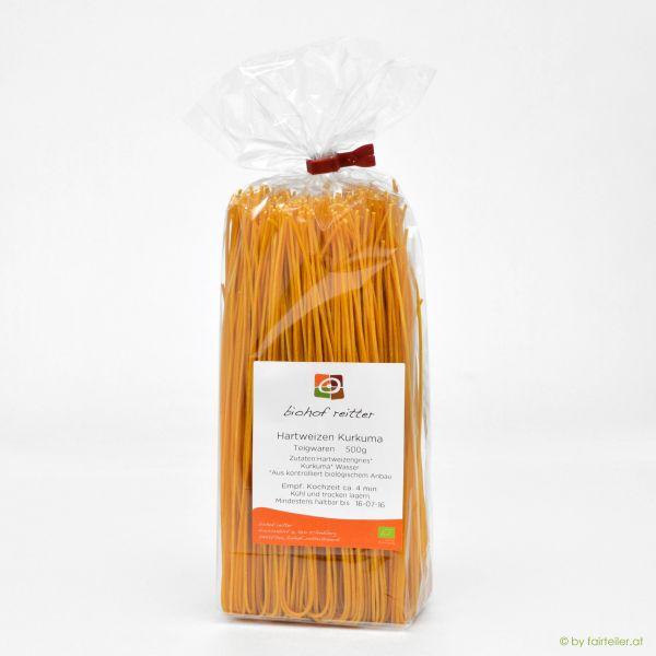 Spaghetti Hartweizengrieß mit Kurkuma
