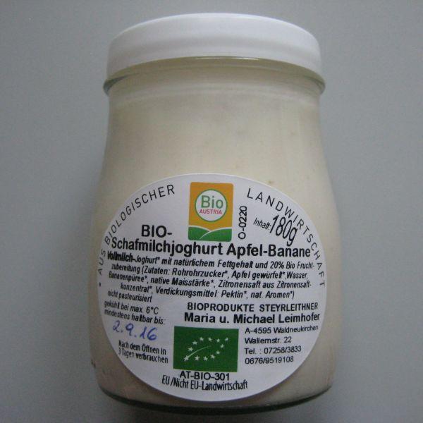 Schafmilchjoghurt Apfel Banane