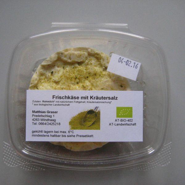 Frischkäse mit Kräutersalz