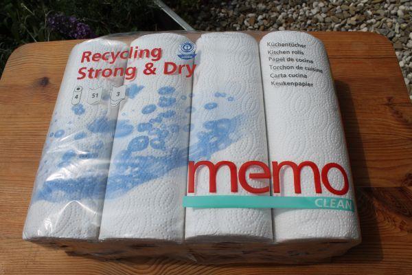 Küchenrollen \'Recycling Strong & Dry\' mit Blauem Engel ausgezeichnet!