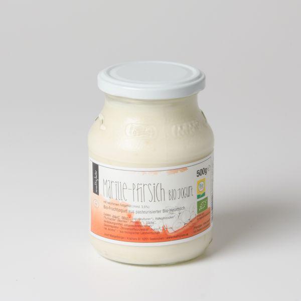 Fruchtjoghurt Marille-Pfirsich