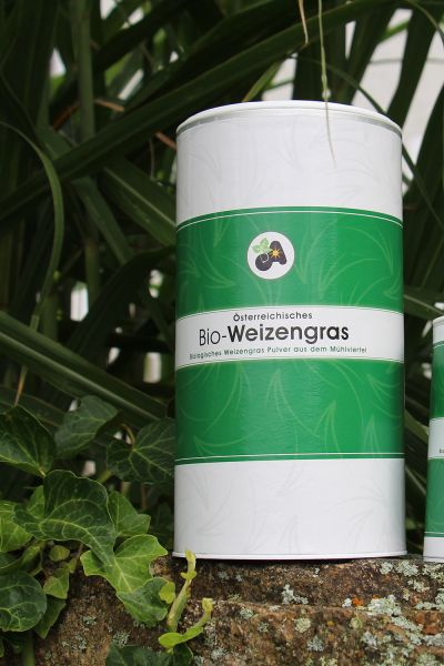 Weizengras Pulver Dose