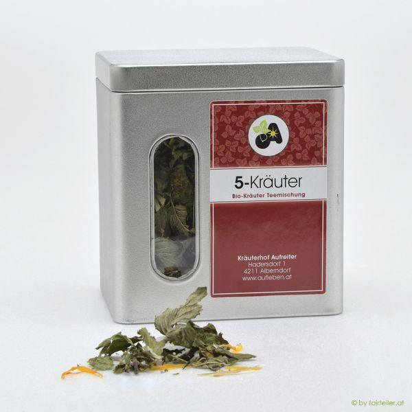 Teedose 5-Kräutermischung