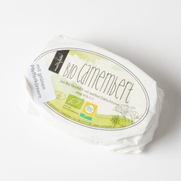 Camembert mit grünen Pfefferkörnern