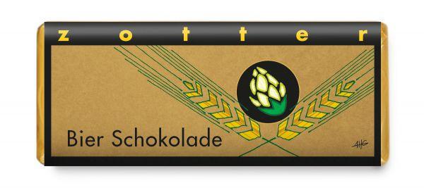 Bier Schokolade (dunkle Bergmilchschoko mit Bierganache)